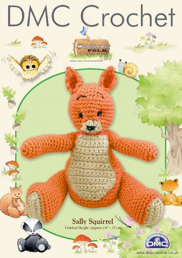 Woodland Folk Amigurumi Sally Squirrel Crochet Pattern.